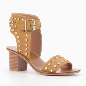Anthropologie Shoes - { Anthropologie } NWT Heeled Sandals with Studs
